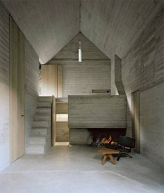 diagnosiscozy: Casa d'Estate . Linescio- Liveable ruin. An austere concrete interior retrofitted into an old cabin in Switzerland.