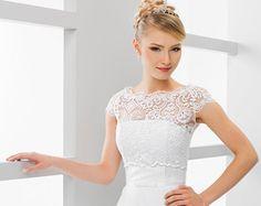 Simple Bridal Cover Up Simple Bridal Shrug White by MeshkaBridal