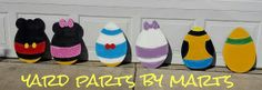 DISNEY inspired EASTER EGGS decoration easter by YardPartsByMarts, $150.00