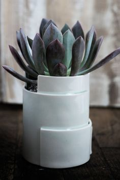Tiered Porcelain Planter