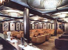 Raffaello-Gran Bar, Mid 1960s. First Class Bar aboard the Italian Liner.