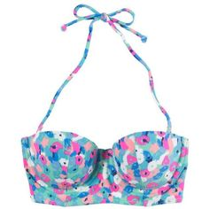 Aerie Floral Corset Bikini Top ($35) ❤ liked on Polyvore featuring swimwear, bikinis, bikini tops, swimsuits, bathing suits, swim, dashing teal, swim tops, bikini swimsuit and floral bikini top