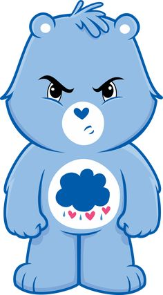 SVG file: [link] Made in Inkscape using the pen and circle tools Care bears belong to their respective owners Grumpy Bear Vector Bear Wallpaper, Cartoon Wallpaper, Care Bears, Grumpy Care Bear, Care Bear Tattoos, Care Bear Party, Garfield And Odie, Bear Vector, Cartoon Sketches