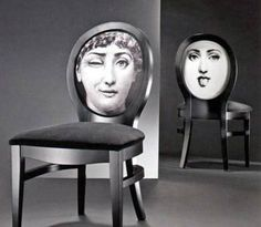 Fornasetti Wink Chair with Lina Cavalieri image