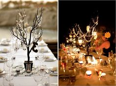 crystal manzanita center pieces by Camlie Inc. photo by The Youngrens