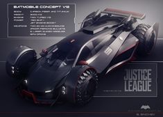 last week I watched Batman vs Superman and I was impressed by the vehicle designs. That's why I created my own version of the batmobile. Batman Car, Batman Suit, Batman Batmobile, Batman Arkham, Superman, Batman Concept, Game Character Design, Ex Machina, Futuristic Cars