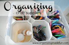 Organizing craft supplies | OrganizingMadeFun.com