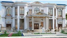 One day Classic House Exterior, Classic House Design, Dream House Exterior, Dream Home Design, Modern House Design, Bungalow House Design, House Front Design, House Plans Mansion, Mansion Interior