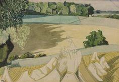 Artwork page for 'The Cornfield', John Nash, 1918