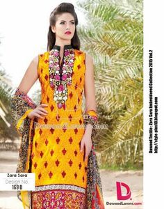 Design No. 169-B From Zara Sara Embroidered Lawn 2015 Vol.2 By Dawood Textile