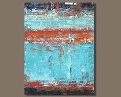FREE SHIP large abstract painting color by SageMountainStudio