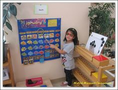 From the Montessori Room: Calendars, Decorations, and the Golden Beads!