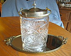 For sale online at More Than McCoy on TIAS; large antique biscuit jar at http://www.morethanmccoy.com