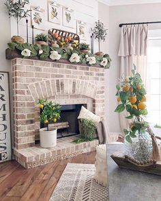 Beautiful Fireplace Farmhouse Decor Ideas Look Unique, You can add warmth and charm to your home with the help of various fireplace farmhouse decor ideas. The fireplace designs will suit well for the small. Farmhouse Fireplace, Fireplace Mantle, Fireplace Design, Farmhouse Decor, Fireplace Ideas, Rugs In Living Room, Living Room Designs, Fireplace Remodel, Decoration
