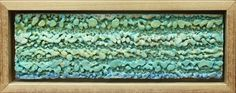 Dry brush accretion how to -pebbly beach Encaustic Painting by Ruth Martin-Maude