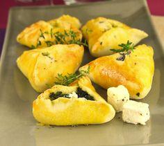 Feuilletés aux épinards et au Salakis - Envie de bien manger. Plus de recettes méditerranéennes ici : www.enviedebienmanger.fr/recettes/salakis #salakis