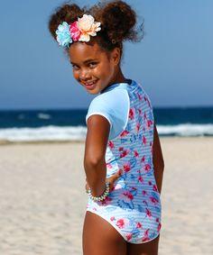 Happy Cherry Boys One Piece Swimsuit Sun Protection Surfing Swimwear Short Sleeve Cute Cap