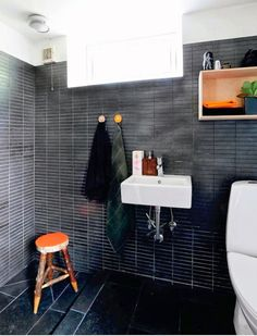 Charcoal Gray Roman Tile | Lone Tommerup and Soren Jensen in Scandinavia | Remodelista