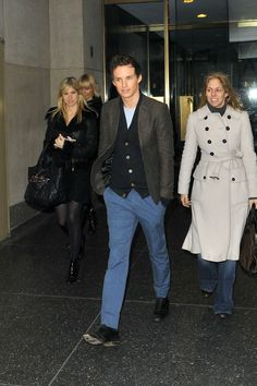 Eddie Redmayne Arrives for the 'Today' Show