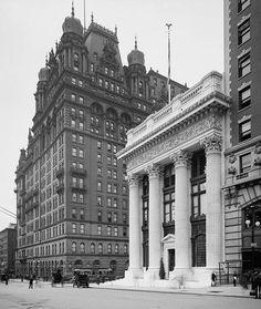 1904 Knickerbocker Trust and Waldorf Astoria Hotel.