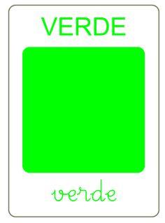 flashcard color verde