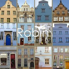 Poland- Gdansk- Houses (Blue) | RobinGoesTo $25 and up; depending on size and material