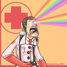 """""""Dr! I think you may be a homosexual! How can I tell?""""  Doctor: *RAAIINNBBBOOOWWWSSS*"""