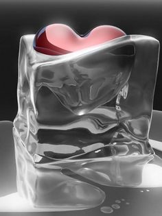 Heart. Melting ice