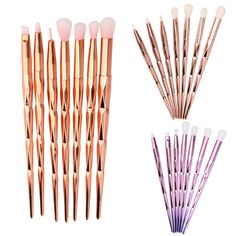 7pcs/set Stylish Eye Makeup Brushes Set Powder Eyeshadow Eyeliner Eyebrow Cosmetic Eye Brushes Tool Kit Drop Shipping