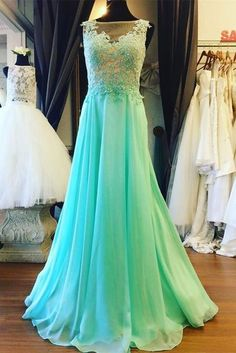 Classy Prom Dresses, Prom Dresses,Prom Dress,Mint Green Illusion Sheer Back Prom Dress , Formal Gown With Lace Appliques Prom Dresses Long Formal Gowns, Dress Formal, Dress Long, Pageant Dresses For Teens, Cute Cocktail Dresses, Elegant Bridesmaid Dresses, Lilac Bridesmaid, Prom Dress Stores, Applique Dress