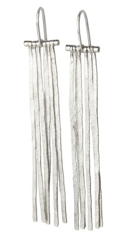 Fringe Earrings: Sophie Hughes: Silver Earrings - Artful Home