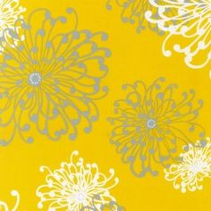 Yards Cotton Quilting Fabric - Robert Kaufman Night and Day 3 Yellow. Only one yard left. Spider Mums, Yellow Pattern, Bee Theme, Cotton Quilting Fabric, Yellow Fabric, Robert Kaufman, Pretty Patterns, Day For Night