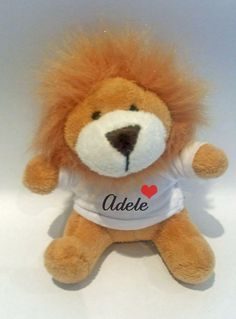 Personalised Lion keyring, Animal keyring, soft toy keyring, Bag charm, Party favour by cjcprint on Etsy