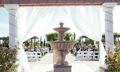 An elegant vineyard wedding at Mount Palomar Winery in Temecula, a repeat winner of The Knot's best of weddings award, more details at theknot.com #mountpalomarwinerywedding