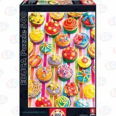 Puzzle Cupcakes de colores - 500 piezas Educa