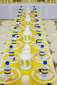 Yellow Rubber Duck Party - Dessert Table & Seating Arrangement by Wunderkind Celebrations {www.wunderkind.ae}