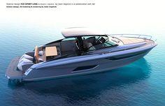 SPORT Exterior design by Jalen Vogelnik on Behance Yacht Design, Boat Design, Yatch Boat, Small Yachts, Sport Boats, Deck Boat, Boat Stuff, Small Boats, Power Boats