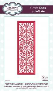 Festive Collection Snowflake Mini Striplet by Sue Wilson CED3036
