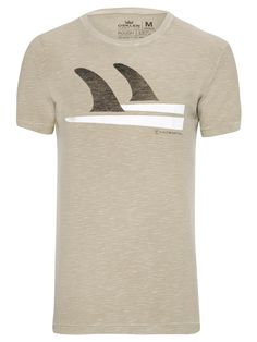 T-SHIRT MASCULINA ROUGH QUILHA - BEGE