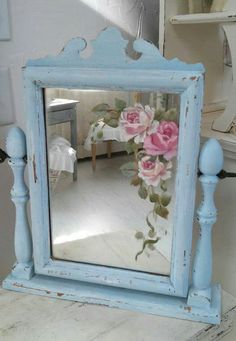 Hand painted mirror by Jo-Anne Coletti