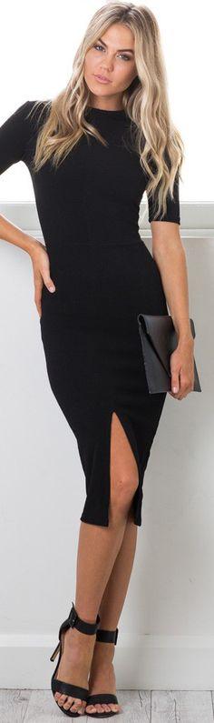 Tall Tales Dress in Black | Office Fashion