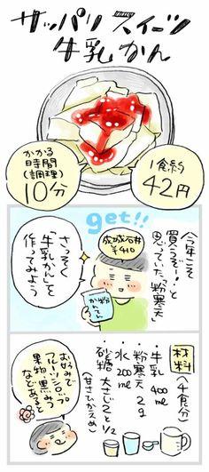 【1食約42円】寒天でヘルシーおやつ、優しい甘さの「牛乳かん」 : おひとりさまのあったか1ヶ月食費2万円生活
