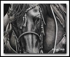 Trail Boss- Quarter Horse Scratchboard
