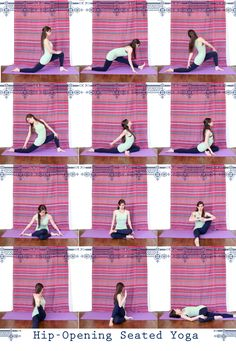 Seated Hip Opening Yoga. love hip-openers! pigeon is great as well.