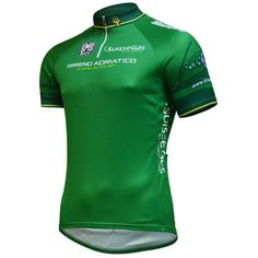 The #GreenJersey at #LeTour is for the sprinters, but at #TirrenoAdriatico it is worn by the leader / winner of the Mountain Points Classification. This is the 2014 edition of the jersey. This year's winner is Davide Ballerini.  ______________________    #TheCyclingJerseys | #CyclingJerseys | #CyclingJersey | #CyclingKit | #CyclingKits | #BikeKit | #BikeKits | #RoadCycling | #Cycling | #CyclingStyle | #TeamKit |  #LeTour | #Giro | #LaVuelta | #UCI | #DavideBallerini