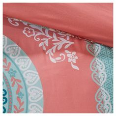 Coral (Pink) Blaire Comforter and Sheet Set (Twin XL)