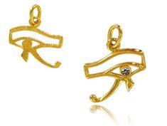 Bijoux Egyptiens Pendentif Oeil Horus Or et Diamant