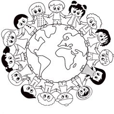 Visual result on April panel decorations - Buch Earth Day Projects, Earth Day Crafts, World Crafts, Harmony Day Activities, Activities For Kids, Crafts For Kids, Doodle Art Drawing, Poster Drawing, Fall Coloring Pages