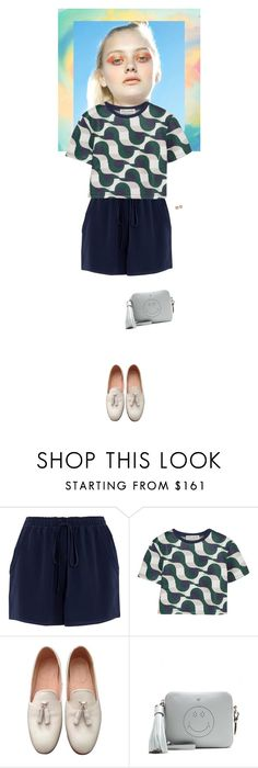 """""""Outfit of the Day"""" by wizmurphy ❤ liked on Polyvore featuring Chloé, Être Cécile, Dieppa Restrepo, Anya Hindmarch, Oscar de la Renta, ootd and highwaistedshorts"""