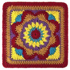 "Ravelry: Emmalynn Square 12"" pattern by Carolyn Christmas"